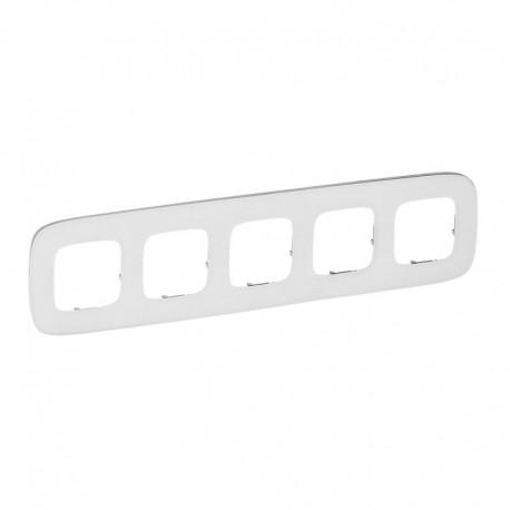 Рамка 5-а колір біле скло, Valena Allure