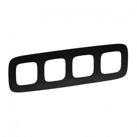 Рамка 4-я цвет матовый черный, Valena Allure, Legrand 754404