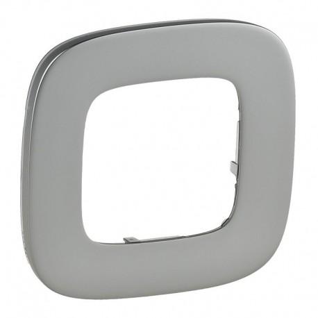 Рамка 1-я цвет полированная сталь, Valena Allure 755501