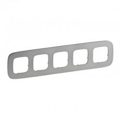 Рамка 5-я цвет полированная сталь, Valena Allure 755505