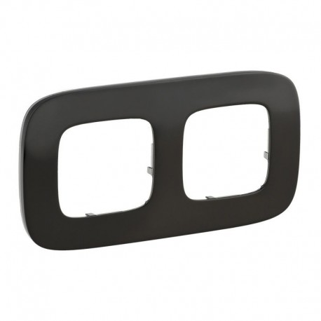 Рамка 2-я цвет черная сталь, Valena Allure 755512