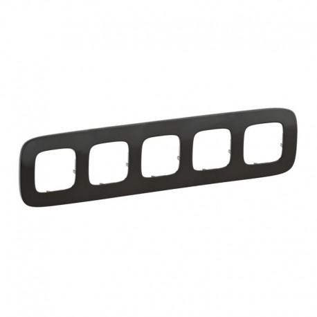 Рамка 5-я цвет черная сталь, Valena Allure 755515