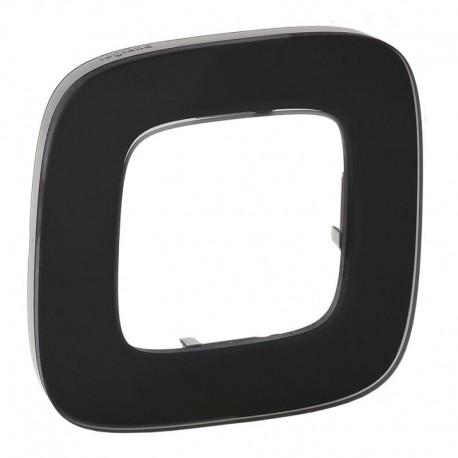 Рамка 1-я цвет черное стекло, Valena Allure 755531
