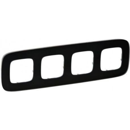 Рамка 4-я цвет черное стекло, Valena Allure 755534