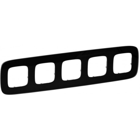 Рамка 5-я цвет черное стекло, Valena Allure 755535