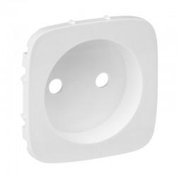 Лицьова панель розетки без заземлення, колір білий, Valena