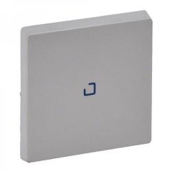 Лицевая панель выключателя 1-клавишного с подсветкой, цвет алюминий, Valena Life 755102
