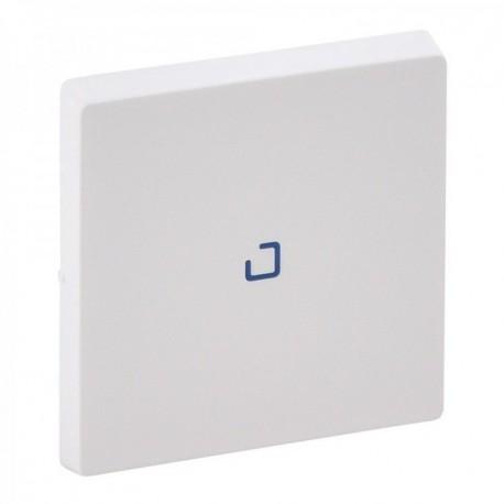 Лицевая панель выключателя 1-клавишного с подсветкой, цвет белый, Valena Life
