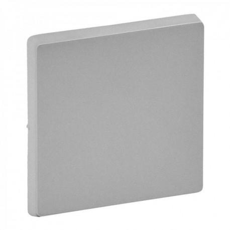 Лицьова панель вимикача 1-клавішного, колір алюміній, Valena