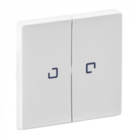 Лицевая панель выключателя 2-клавишного с подсветкой, цвет белый, Valena Life
