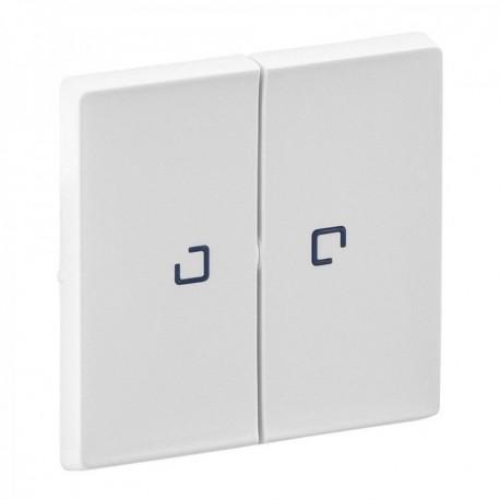 Лицевая панель выключателя 2-клавишного с подсветкой, цвет белый, Valena Life 755220