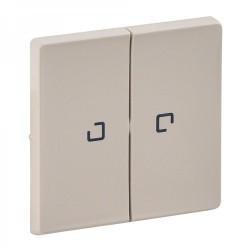 Лицевая панель выключателя 2-клавишного с подсветкой, цвет слоновая кость, Valena Life 755221