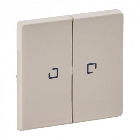 Лицевая панель выключателя 2-клавишного с подсветкой, цвет слоновая кость, Valena Life