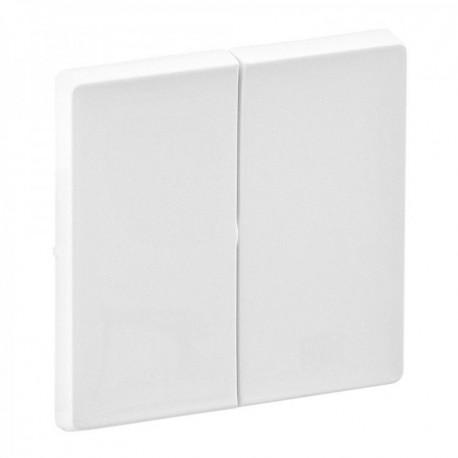 Лицевая панель выключателя 2-клавишного, цвет белый, Valena Life
