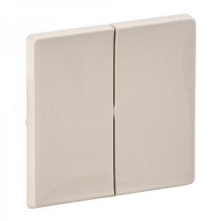 Лицевая панель выключателя 2-клавишного, цвет слоновая кость, Valena Life 755021