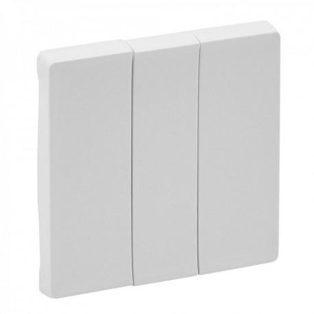 Лицевая панель выключателя 3-клавишного, цвет белый, Valena Life 755030