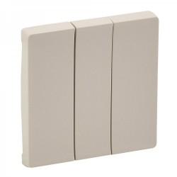 Лицевая панель выключателя 3-клавишного, цвет слоновая кость, Valena Life 755031