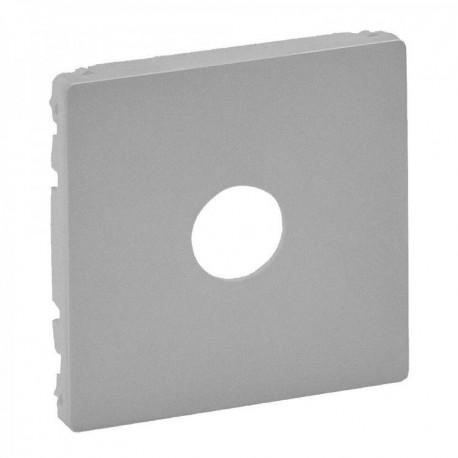Лицевая панель розетки TV, цвет алюминий, Valena Life 754762