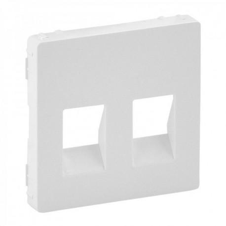 Лицьова панель розетки акустичної подвійної, колір білий