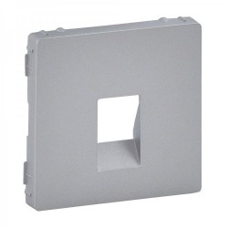 Лицевая панель розетки акустической одинарной, цвет алюминий, Valena Life 755362