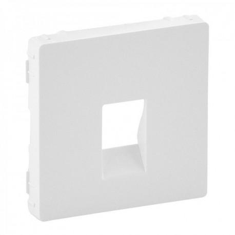 Лицьова панель розетки акустичної одинарної, колір білий