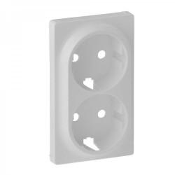 Лицевая панель розетки двойной с заземлением, цвет белый, Valena Life 754950