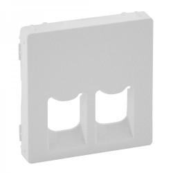 Лицевая панель розетки компьютерной RJ11, RJ45, двойной, цвет белый, Valena Life 755420