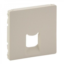 Лицевая панель розетки компьютерной RJ11, RJ45, одинарной, цвет слоновая кость, Valena Life
