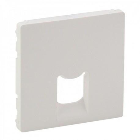 Лицевая панель розетки копьютерной RJ11, RJ45, одинарной, цвет белый, Valena Life 755410