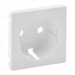Лицевая панель розетки с заземлением, цвет белый, Valena Life 755200