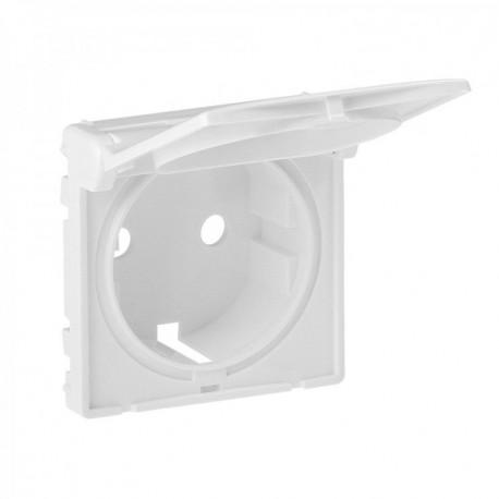 Лицевая панель розетки с крышкой, цвет белый, Valena Life, Legrand 754840