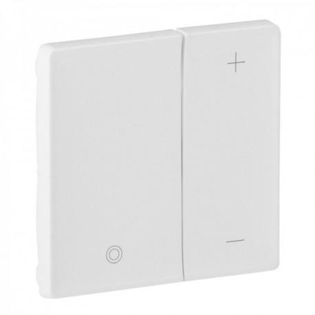 Лицевая панель светорегулятора кнопочного, цвет белый, Valena Life 754890