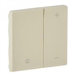 Лицевая панель светорегулятора кнопочного, цвет слоновая кость, Valena Life 754891