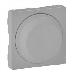 Лицевая панель светорегулятора поворотного, цвет алюминий, Valena Life 754882