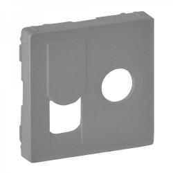 Лицевая панель ТV+RJ45, цвет алюминий, Valena Life 754832