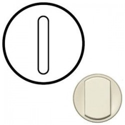 Лицьова панель вимикача 1-кл. безшумного, колір слонова кістка, Celiane, Legrand