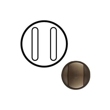 Лицевая панель механизма выключателя 2-кл. бесшумного, цвет графит, Celiane