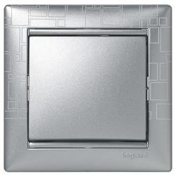 Рамка 1 пост алюминий модерн Legrand Valena
