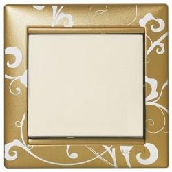 Рамка 1 пост Золото Барокко Legrand Valena 770020