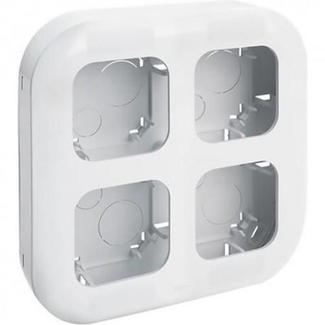 Блок установочный до 4 постов накладной, белый, 782294 Legrand Quteo