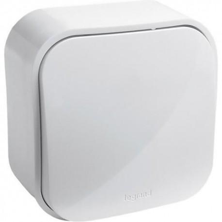 Кнопка одноклавишная накладная, белая, 782235 Legrand Quteo