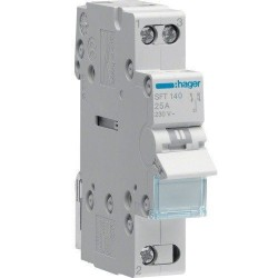 Переключатель перекидной ввода резерва 40А, 1 полюс, SFT140 Hager