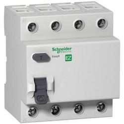 Реле дифференциальное (УЗО) EZ9 4Р 25А 30мА Schneider Electric