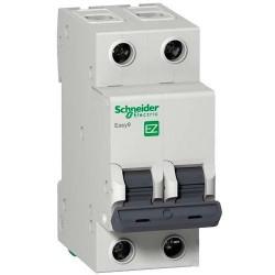 Автоматический выключатель, 2Р, 6А, тип В, 4,5кА, EZ9 Schneider Electric