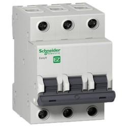 Автоматический выключатель, 3Р, 10А, тип В, 4,5кА, EZ9 Schneider Electric