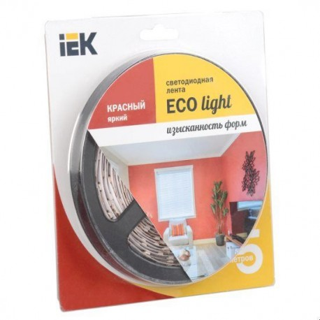 Лента LED 5м блистер LSR-3528R60-4.8-IP20-12V IEK-eco
