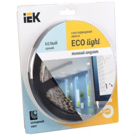 Лента LED 5м блистер LSR-3528W120-9.6-IP20-12V IEK-eco