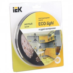 Лента LED 5м блистер LSR-3528Y60-4.8-IP65-12V IEK-eco