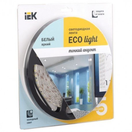 Лента LED 5м блистер LSR-3528W120-9.6-IP65-12V IEK-eco