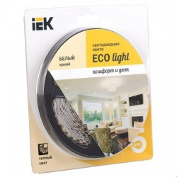 Лента LED 5м блистер LSR-3528WW120-9.6-IP20-12V IEK-eco